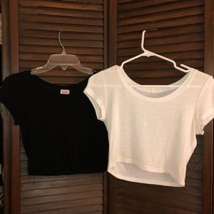 Black and White Crop Tops